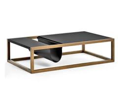 - Rectangular solid wood coffee table DORSODURO | Rectangular coffee table - Varaschin