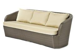 - Hand woven man-made fibre 3 seater sofa GARDENIA | 3 seater sofa - Varaschin