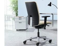 - Task chair with 5-Spoke base with armrests JET.ONE - König + Neurath