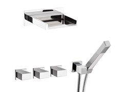 - Built-in shower panel with hand shower TWIN | Set doccia con cascata - Daniel Rubinetterie