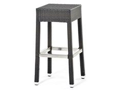- High stool with synthetic fiber weaving LOTUS | Stool - Varaschin