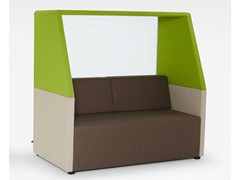 - 2 seater igloo upholstered sofa NET.WORK.PLACE - König + Neurath
