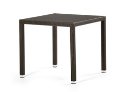 - Square table with synthetic fiber weaving LOTUS | Square table - Varaschin