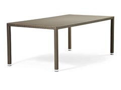 - Rectangular table with synthetic fiber weaving LOTUS | Rectangular table - Varaschin