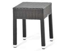 - Square coffee table with synthetic fiber weaving LOTUS | Coffee table - Varaschin