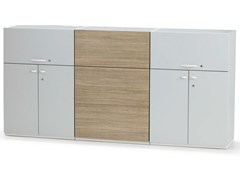 - Office storage unit with hinged doors with lock ACTA PLUS - König + Neurath