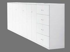 - Office storage unit with hinged doors with lock ACTA CLASSIC | Office storage unit - König + Neurath