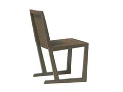- Sled base Ecolignus® chair SERENA | Chair - Andreu World