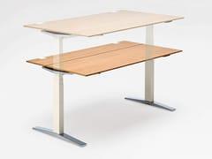 - Height-adjustable wooden office desk TABLE.T - König + Neurath