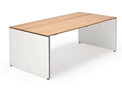 - Rectangular wooden office desk TABLE.W - König + Neurath