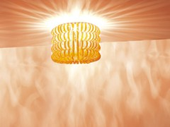 - Glass ceiling lamp ECOS PL 60B - Vetreria Vistosi