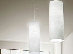 - Glass pendant lamp FOLLIA SP G - Vetreria Vistosi