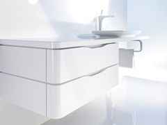 - Wall-mounted vanity unit with drawers PURAVIDA | Wall-mounted vanity unit - DURAVIT