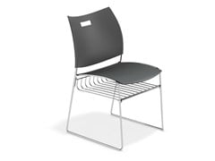 - Sled base chair with storage space CARVER | Chair with storage space - Casala