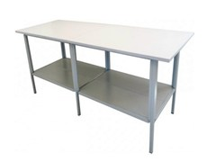 - Melamine-faced chipboard workbench CAST - Castellani.it