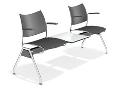 - Plastic beam seating with armrests CURVY TRAVERSE | Beam seating - Casala
