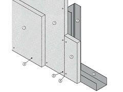 - Fireproof panel for interior partition MGO FIRE PLUS® S75/50 - EI120 - ITP