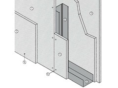 - Fireproof panel for interior partition MGO FIRE PLUS® W75/127 - EI180 - ITP