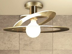 - Direct-indirect light glass ceiling lamp CINDERELLA | Glass ceiling lamp - Cattaneo Illuminazione