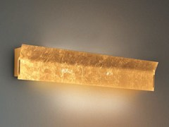 - Indirect light glass wall light LINEAR | Gold leaf wall light - Cattaneo Illuminazione