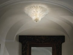 - Glass ceiling lamp SAN GIORGIO PL 46FP - Vetreria Vistosi