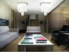 - Blown glass ceiling lamp TUBES PL 9 - Vetreria Vistosi
