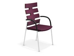 - High-back chair with armrests KEEP MOVING | High-back chair - Casala