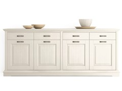 - Wooden sideboard with doors with drawers ARIETTE | Sideboard - Scandola Mobili