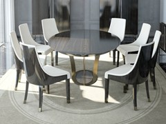 - Round wooden dining table PARIS | Dining table - HUGUES CHEVALIER