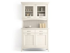 - Wooden highboard with doors with drawers ARCANDA | Highboard - Scandola Mobili