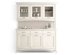 - Wooden highboard with doors with drawers ARCANDA | Highboard with doors - Scandola Mobili