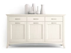 - Wooden sideboard with doors with drawers ARCANDA | Sideboard with doors - Scandola Mobili