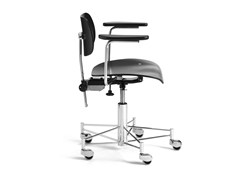 - Height-adjustable task chair with casters SBG 197 R | Task chair with armrests - WILDE+SPIETH Designmöbel