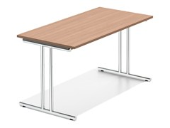 - Rectangular wooden bench desk LACROSSE IV | Wooden bench desk - Casala