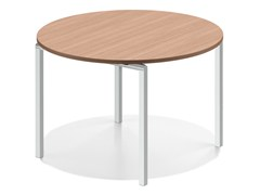 - Round wooden meeting table LACROSSE V | Round table - Casala