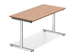 - Rectangular wooden bench desk LACROSSE VI | Wooden bench desk - Casala