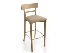- Upholstered counter stool with footrest MAESTRALE | Chair with footrest - Scandola Mobili
