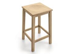 - Wooden stool with footrest PAESANA | Stool - Scandola Mobili