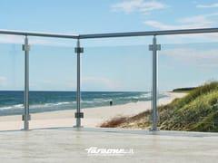 - Glass and aluminium balustrade SKY - FARAONE