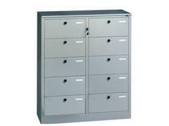 - Modular plate office storage unit with lock 610/AR | Office storage unit - Castellani.it