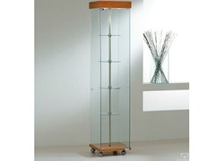 - Retail display case with integrated lighting with casters VE40180G | Retail display case - Castellani.it