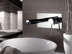 - Wall-mounted washbasin mixer with plate MINIMAL | Wall-mounted washbasin mixer - Remer Rubinetterie