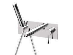 - Wall-mounted bathtub mixer with plate MINIMAL | Bathtub mixer with plate - Remer Rubinetterie