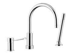 - Chrome-plated bathtub mixer with diverter MINIMAL | Bathtub mixer with diverter - Remer Rubinetterie