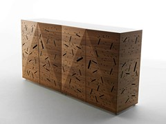- Walnut sideboard RIDDLED FRONT - HORM.IT