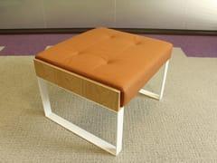 - Sled base leather footstool SÉVERIN | Sled base footstool - Alex de Rouvray design