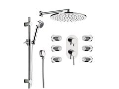 - Built-in chromed brass shower panel with overhead shower MINIMAL | Shower panel - Remer Rubinetterie