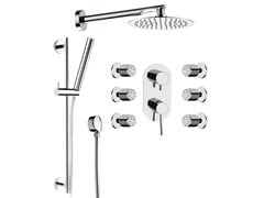 - Built-in chromed brass shower panel with overhead shower MINIMAL | Built-in shower panel - Remer Rubinetterie