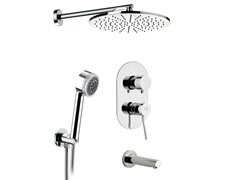 - Shower mixer with overhead shower MINIMAL | Shower mixer with overhead shower - Remer Rubinetterie