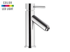 - Countertop LED chromed brass washbasin mixer without waste MINIMAL COLOR | Countertop washbasin mixer - Remer Rubinetterie